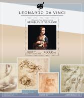gu14512b Guinea 2014 Paiting Leonardo da Vinci s/s