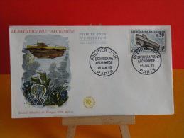 FDC- Bathyscaphe Archimède - Paris - 26.1.1963 - 1er Jour, Cote 2 € - 1960-1969