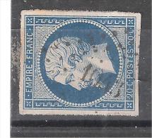 Empire N° 14 Obl Pc 1043 De LA CROIX BLANCHE, Lot Et Garonne, INDICE 21, TB, RARE - 1853-1860 Napoléon III