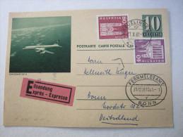 1961, Bildganzsache Mit Zusatzfrankatur Als Eilkarte Nach Bonn - Entiers Postaux