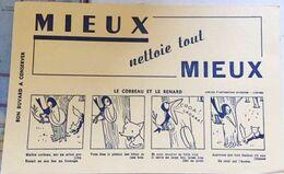 """Buvard """"Mieux Nettoie Tout Mieux"""", Fable De La Fontaine, Le Corbeau Et Le Renard - Produits Ménagers"""