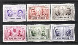 BELGIQUE (1957) - COB 1013/1018 *MLH - CULTURELLE / HOMMES CELEBRES - Belgium