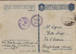 FRANCHIGIA WWII POSTA MILITARE 220 1942 TRIPOLI LIBIA X BORGO VERCELLI ## - 1900-44 Vittorio Emanuele III