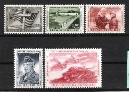 BELGIQUE (1957) - COB 1032/1036 *MLH - MEMORIAL GENERAL PATTON - Belgium