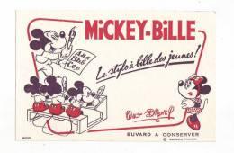 BUVARD MICKEY Bille     Walt Disney 20.5*13.5 Cm - Unclassified