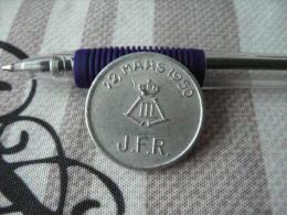 BELGIQUE  Jeton J.F.R 12 Mars 1950 Aluminium Uniface - Monetary / Of Necessity