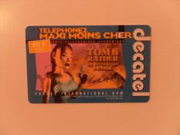 CARTE PREPAYEE DECATEL - TOMB RAIDER - Prepaid Cards: Other