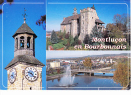 MONTLUCON (03, Allier), Bourbonnais, Tour De L'Horloge, Château Des Ducs De Bourbon, Le Cher Et Le Pont St Jacques - Montlucon