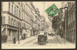ROUEN Tramway Rue De La République Vers La Fontaine Ste Marie (LL) Seine Maritime (76) - Rouen