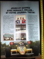 PUB PUBLICITE MAQUETTE HELLER CASTELLET TOTH AVEC PATRICK TAMBAY RENAULT ELF FORMULE 1 F1 - Vieux Papiers