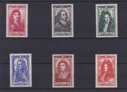 FRANCE 1944 CELEBRITES DU XVII°  N° 612 à 617  Série Complète    NEUF XX  - REF MS - Ungebraucht