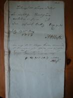 Alte Akte/Dokument Oldenburg Von 1837 ! - Historische Dokumente