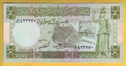 SYRIE - Billet De 5 Pounds. 1988. Pick: 100d. NEUF - Siria