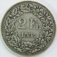 Suisse Switzerland / 2 Francs / 1894 - Suisse