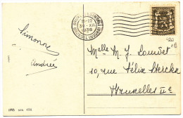 1936 FANTASIEKAART MET PZ 420 VAN BRUXELLESNORD) NAAR BRUXELLES2 ZIE SCAN(S) - 1935-1949 Small Seal Of The State