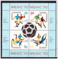 Romania - 1970 - Usato/used - Calcio - Mi Block 75 - Gebruikt