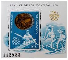 Romania - 1976 - Usato/used - Olimpiadi - Mi Block 137 - Gebruikt