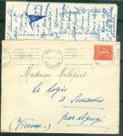 Lac Oblit Paris-21 - R. De La Bastille - Utilisez La Poste / Aérienne - Dreyfuss 3205  Mala3205 - 1921-1960: Période Moderne