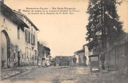 CPA 08 BEAUMONT EN ARGONNE RUE STE MARGUERITE - Other Municipalities