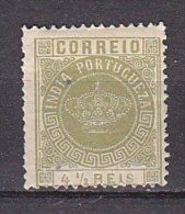 INDE PORTUGUAISE -  N°Y&T - 115 - 4r1/2 Olive - Couronne - N* - Inde Portugaise