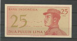 INDONESIE : 25 SEN -  NEUF - Indonésie