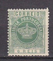 INDE PORTUGUAISE -  N°Y&T - 116 - 6r  Vert  - Couronne - N* - Inde Portugaise