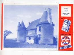 Buvard - Piles Mazda, Château De Ris, Allier Besson - Electricité & Gaz