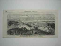 GRAVURE 1869. LES INONDATIONS DU NIL............... .. .. ... - Estampas & Grabados