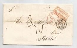 - Lettre - CUBA - LA HAVANE - PORT DU - TAXEE + Cachets - 1850 - VOIR - Cuba