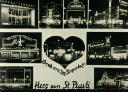 Hamburg Reeperbahn St. Pauli 31.7.1960 - Operettenhaus - Lausen - Cafe Keese - Zillertal Bei Nacht Sw - Mitte