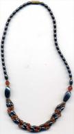 COLLIER ANCIEN  EN JAIS ET PIERRES FINES - Necklaces/Chains
