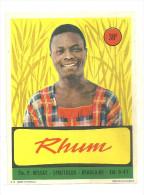 30 BEAUCAIRE BESSAT ETIQUETTE RHUM SPIRITUEUX  ALCOOL PUBLICITE GARD - Rhum