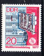 ALEMANIA DDR 1977.YVERT Nº 1896.DIA INTERNACIONAL DE LAS TELECOMUNICACIONES U.I.T.NUEVO SIN CHARNELA  SES481 - [6] República Democrática