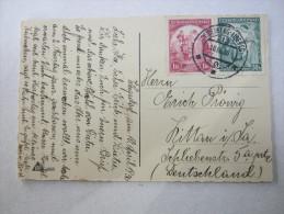 1936, Bahnpoststempel  Auf Karte - Czechoslovakia
