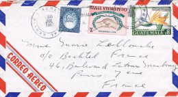 Guatemala 1967 Postal Cover Guatemala - France - Guatemala