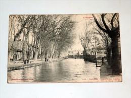 Carte Postale Ancienne : PAMIERS : L' Allée Des Carmes, Animé - Pamiers