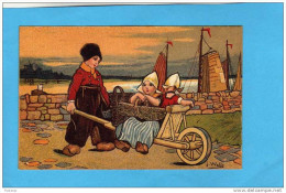 EXIBARD-Remède D´abyssinie Cigarette--soulage Asthme-hollande-illustr  -j Wells-transport En Brouette-années 1900 - Cigarette Cards