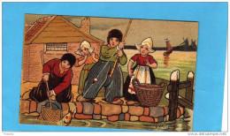 EXIBARD-Remède D´abyssinie- Cigarette-soulage Asthme-hollande-illust  -j Wells-belle Prise à Quai-pêche--années 1900 - Cigarette Cards
