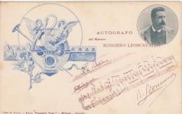 Autografo Del Maestro Ruggiero Leoncavallo - Musica E Musicisti