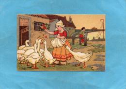 EXIBARD-Remède D´abyssinie Cigarette-soulage Asthme-hollande-illust  -j Wells-la Fermière Et Les Oies-années 1900 - Cigarette Cards