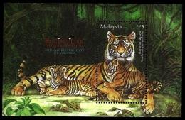(209) Malaysia / Malaisie  Animals / Tiger Sheet / Bf / Bloc Tigre  ** / Mnh  Michel BL 177 - Malaysia (1964-...)