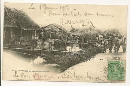 Cap Saint-Jacques Cochinchine Village Annamite Sur Pilotis INDOCHINE Le 01 / 01/ 1907 Vietnam - Cartes Postales