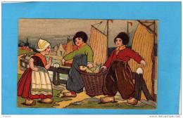 EXIBARD-Remède D´abyssinie-Cigarette-soulage Asthme-hollande-illust-j Wells-retour De Pêche -gros Paniers-années 1900 - Other Brands