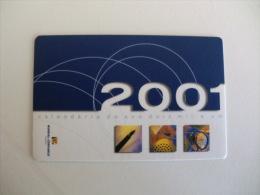 Insurance/ Assurances/ Seguros Mundial Confiaça - Portugal Portuguese Pocket Calendar 2001 - Calendari