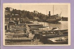 Dépt 74 - THONON LES BAINS  - Le Port Et L'arrivée Du Bateau De Genève - Thonon-les-Bains