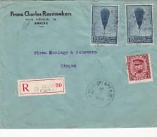 1933 LETTRE BELGIQUE. RECOMMANDE ANVERS FIRME CHARLES RAYMAEKERS RUE VENUS / 5341 - Briefe U. Dokumente