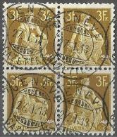 "Viererblock  Helvetia Mit Schwert  ""Genève Gazette""            1913 - Suisse"
