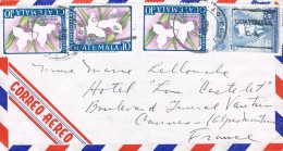 Guatemala 1967 Postal Cover Guatemala - France - Mario Mendez Montenegro - Monja Blanca - Guatemala