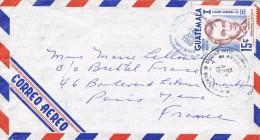 Guatemala 1968 Postal Cover Guatemala - France - Centenario 1865-1965 - Homenaje Abraham Lincoln - Guatemala