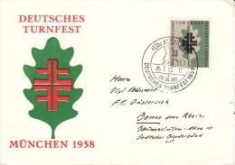 TURNSPORT-GYMNASTICS-GYMN ASTIQUE-GINNASTICA, Western Germany, 1958, Deutsches Turnfest München 1958 !! - Gymnastiek